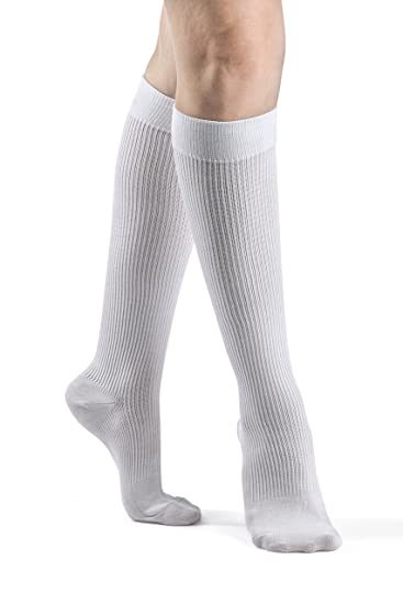 b63b3c8dd2 Image Unavailable. Image not available for. Color: SIGVARIS Women's CASUAL  COTTON 146 Calf High Compression Socks ...