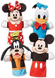 Melissa & Doug Mickey Mouse & Friends Hand Puppets (Puppet Sets; Mickey, Minnie, Donald, and Goofy; Soft Plush Material; Set