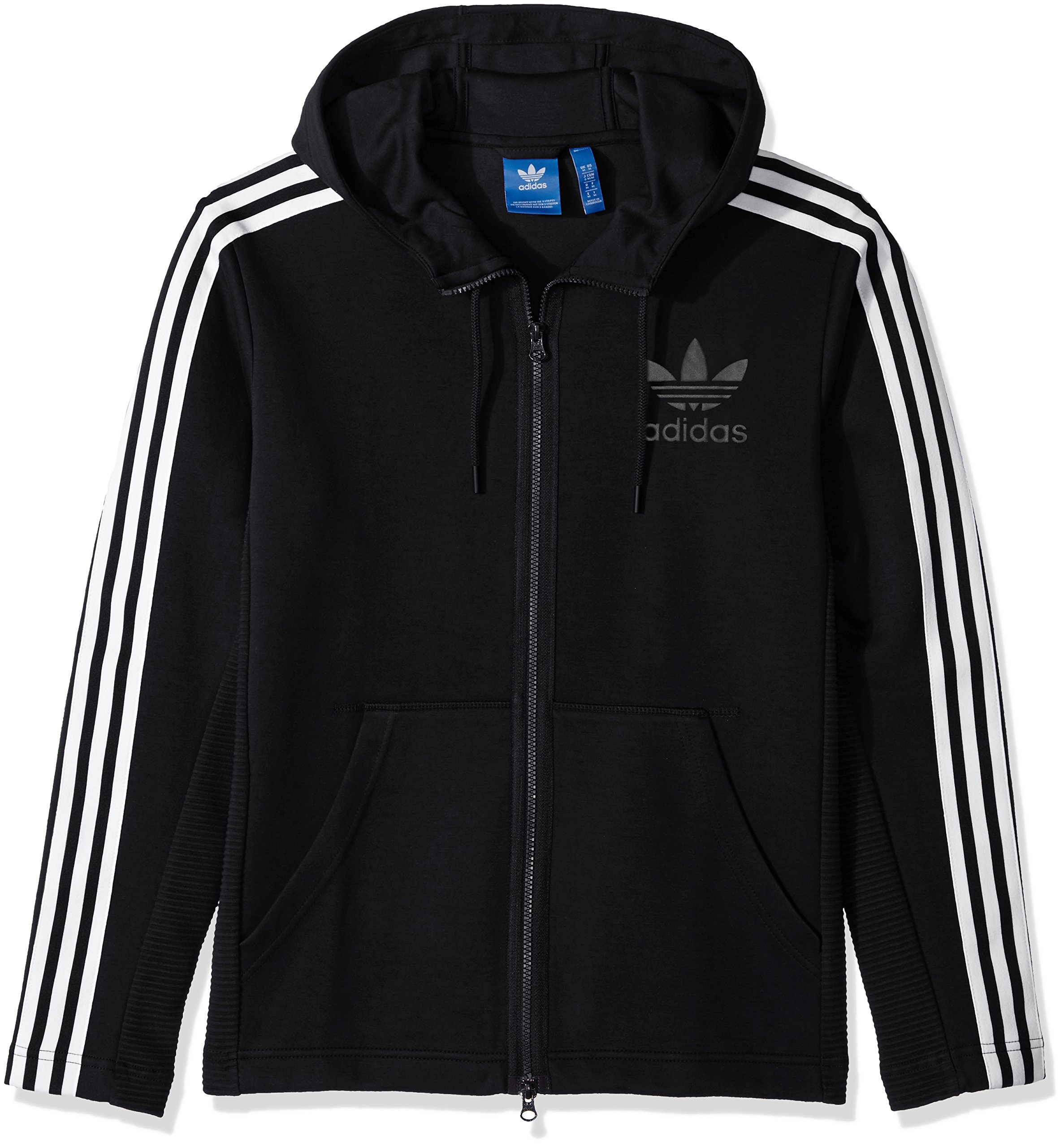 adidas Originals Men's Outerwear Curated Full Zip Jacket, Black, XX-Large by adidas Originals (Image #1)