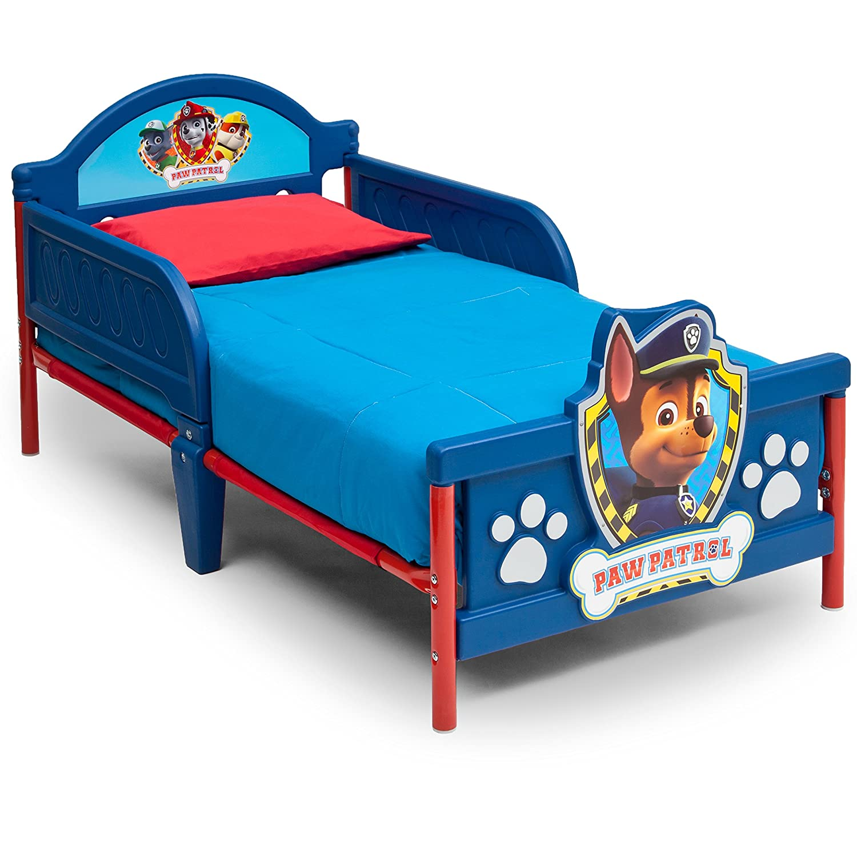 Nick Jr. 3D Plastic Toddler Bed, Paw Patrol Delta Children BB86958PW-1121