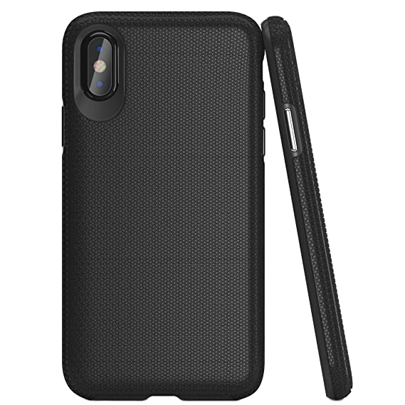big sale 28f89 59f40 iPhone X Case, Black, Drop Proof, Military Grade Armor, Slim & Stylish with  Protective, Durable, Shock Absorbing Material and Non Slip Texture :: For  ...
