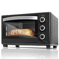Cecotec Bake&Toast 550. Horno Eléctrico de Sobremesa, Temperatura Hasta 230ºc Y Tiempo Hasta 60 Minutos 23 litros, Negro