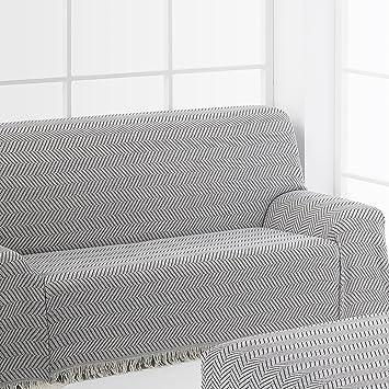 Frenessa Plaid Colcha Multiusos Foulard Cubre Sofás para Individual Sillón Sofá 1 Plazas, 125x180cm, Color Marrón