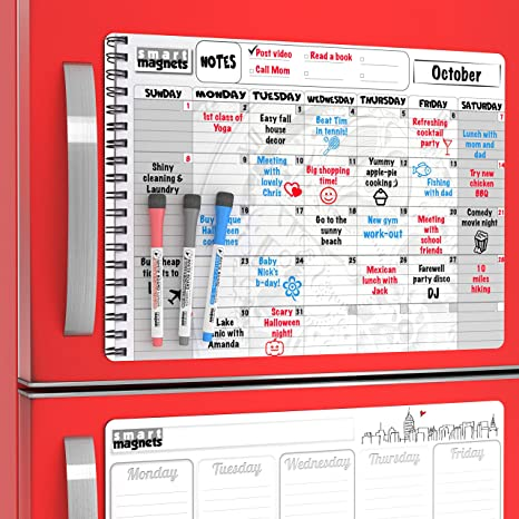 Amazon Com Large Dry Erase Weekly Calendar To Do Board And Big