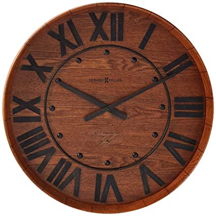 Amazon Com Howard Miller 625 453 Wine Barrel Gallery Wall Clock