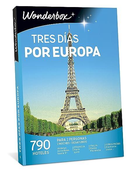 WONDERBOX Caja Regalo -Tres DÍAS por EUROPA-790 hoteles para Dos Personas