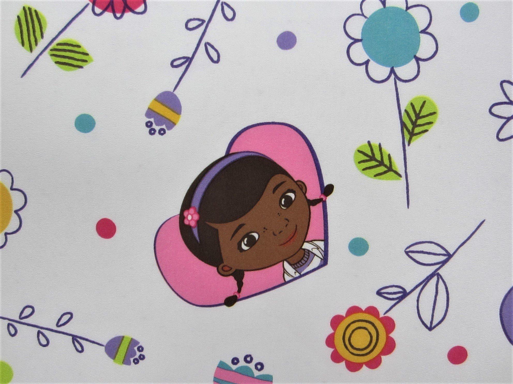 Good As New Doc McStuffins 100% Polyester (FLAT SHEET ONLY) Size TODDLER Girls Kids Bedding