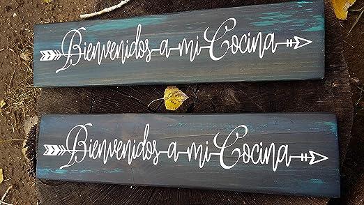 Amazon Com Celycasy Custom Spanish Wood Sign Say S Bienvenidos