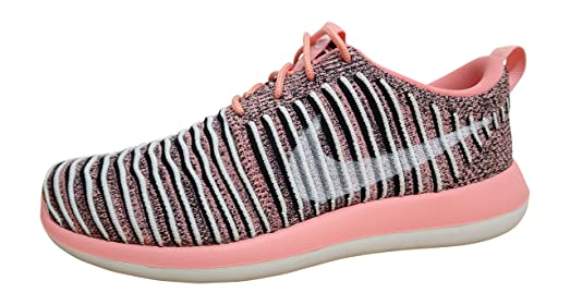 Nike Womens Roshe Two Flyknit Running Trainers 844929 Sneakers Shoes (US  10, bright melon