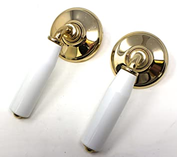 Gainsborough Whitehall Porcelain Goldtone Door Lever Series 200WHIGT ...