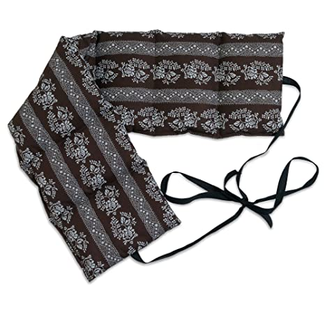 Cuscini Riscaldanti Con Semi.Cuscino Termico Con Semi Di Uva 65x15cm Fiori Marroni 7 Tasche