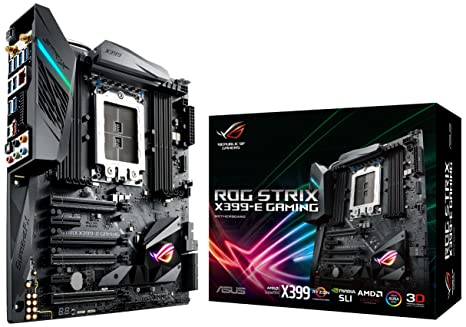 Asus ROG STRIX X399-E GAMING AMD TR4 X399 EATX - Placa base gaming Aura Sync RGB iluminación LED, 802.11ac Wi-Fi, DDR4 3600MHz, Dual M.2, SATA 6Gbps ...