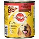 Pedigree Hundefutter Nassfutter saftiges Geschnetzeltes mit Rind, Gemüse und Nudeln in Sauce