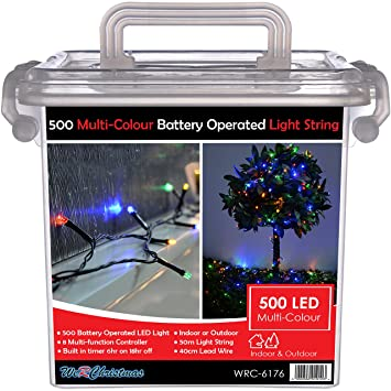 Werchristmas outdoor battery operated multi function led lights with werchristmas outdoor battery operated multi function led lights with timer 50 m 500 mozeypictures Images