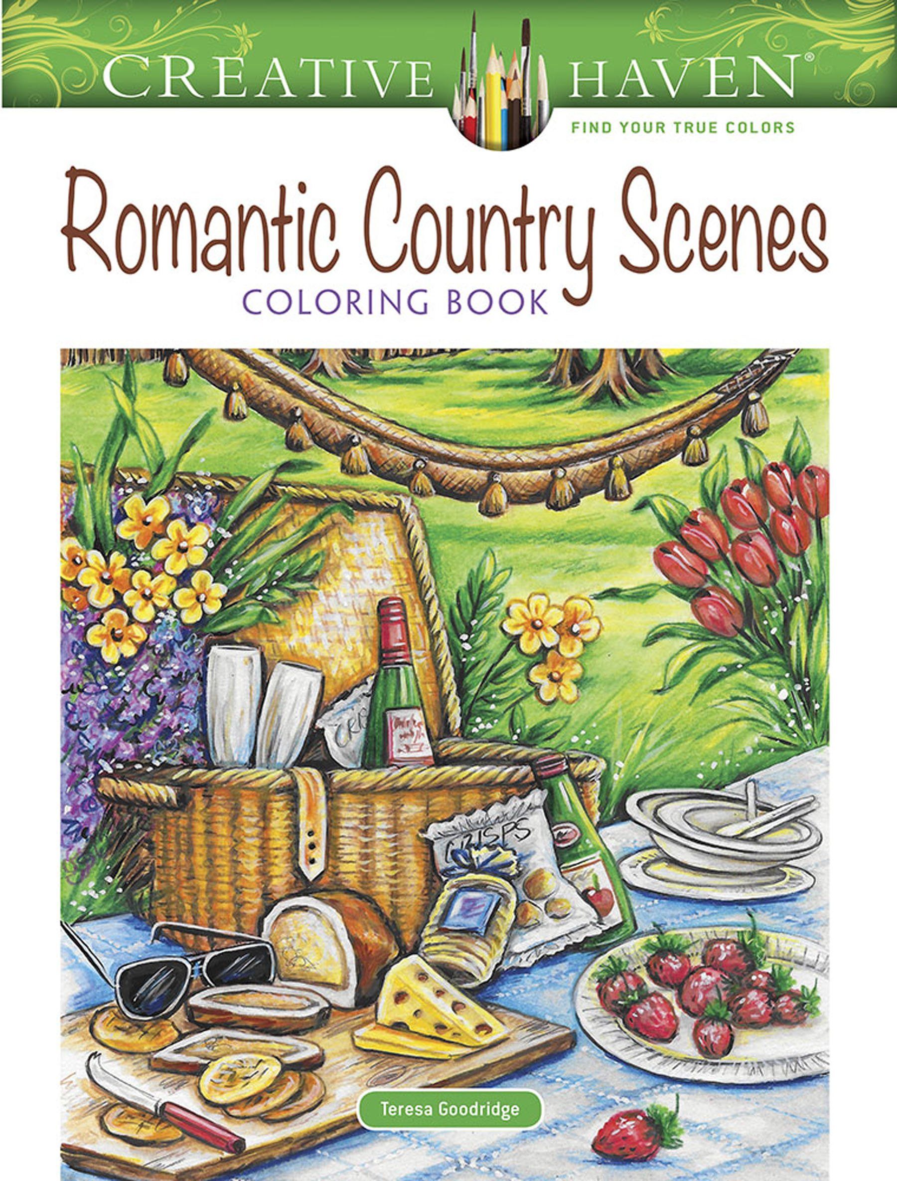 Amazon Creative Haven Romantic Country Scenes Coloring Book Adult 0800759829071 Teresa Goodridge Books