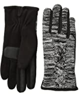 Isotoner Women's Smart-Touch Cable-Knit Glove with Thermaflex Lining