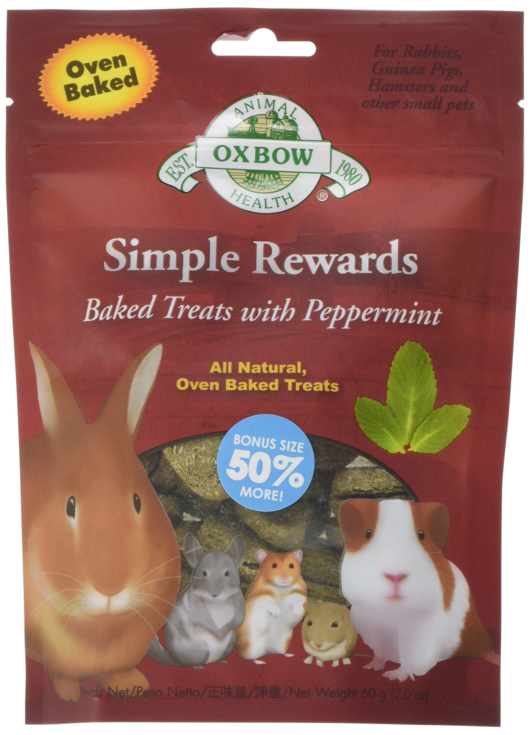 Oxbow Peppermint Simple Rewards Baked Treats