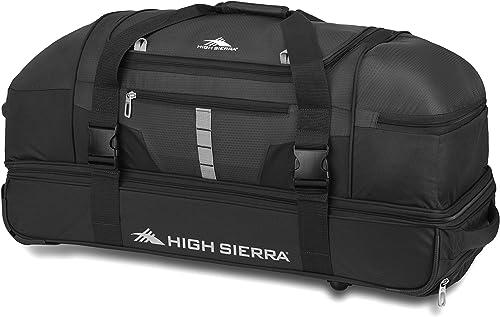 High Sierra Evolution Drop Bottom Rolling Duffel Bag