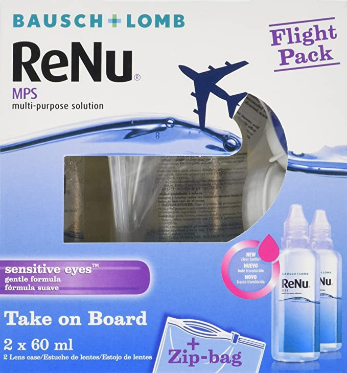 44083342595c8 Bausch   Lomb ReNu MPS Multi-Purpose Contact Lens Solution - Flight Pack   Amazon.co.uk  Health   Personal Care