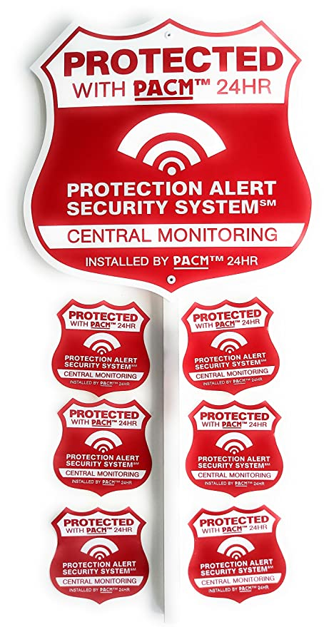 ... 3 Home Security Camera Yard Warning Signs+Brinks Adt Alarm Window Glass  Stickers