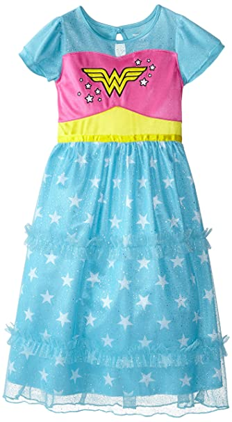 Komar Kids Big Girls Wonder Woman para vestidos de novia - Azul -