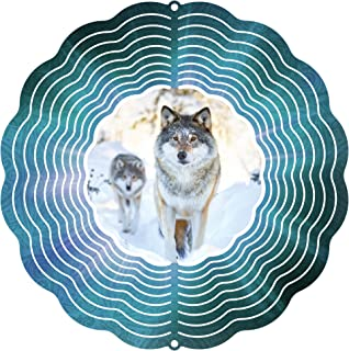 "product image for Next Innovations 101408001-ALPHAWOLF Wind Spinner, 10"" Diameter, Multicolor"