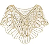 Metme Women's 1920s Wedding Wrap Bridal Shawl Gatsby Evening Bolero Flapper Cape