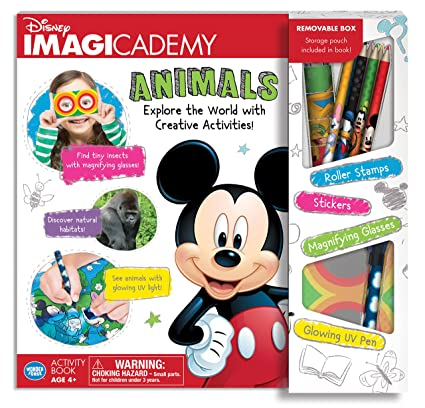 Wonder Forge The Disney Imagicademy Mickey Mouse Animals Activity Book