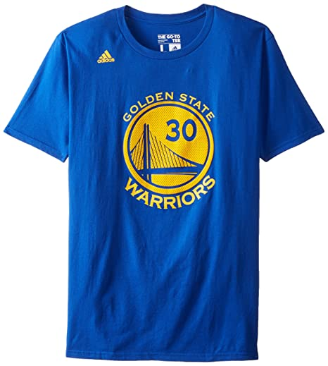 Stephen Curry Golden State Warriors Replica Blue Name and Number T-shirt  Small