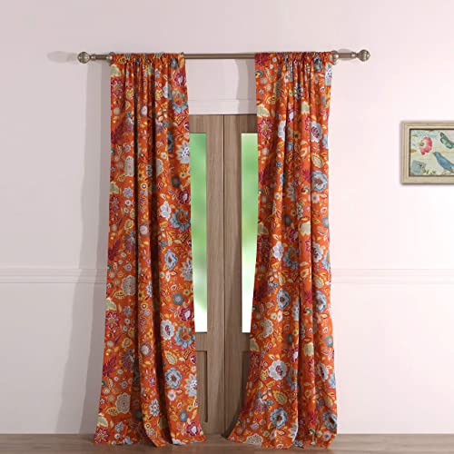 Greenland Home Astoria Curtain Panel Pair, 95-inch L, Spice
