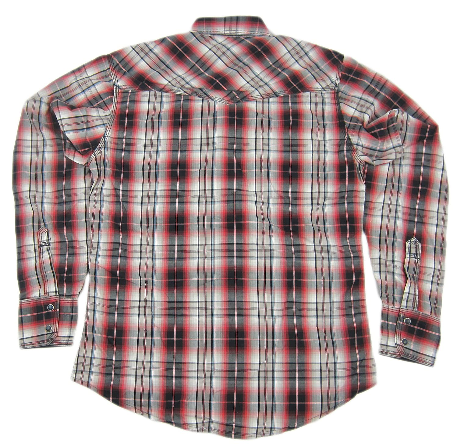 df63eadd876 Wrangler Mens 20X Twenty X Western Plaid Pearl Snap Shirt MJ1246M Red at  Amazon Men s Clothing store