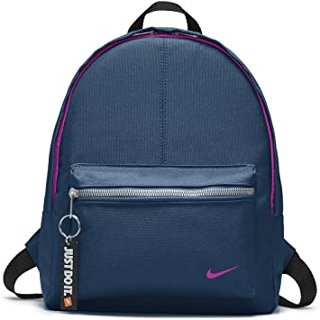 Nike Kids Classic Backpack, Color Blue Force/Black/Hyper Magenta, Talla