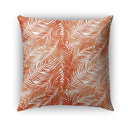 Amazon Com Kavka Designs Orange Palm Indoor Outdoor Throw Pillow