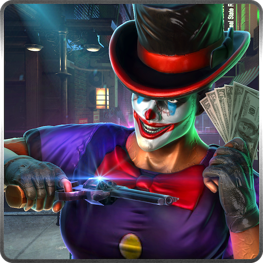 Neighbor Clown Robbery Gangster Theft Heist Fight Simulator 3D: Crime City Criminals Police Vs Robbers Gangsters Adventure Action Simulator Game Free For Kids 2018 -