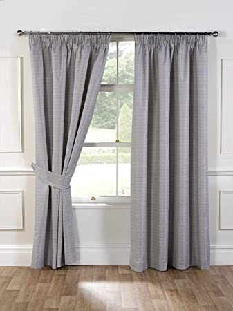 Curtains Ideas 54 inch curtains : Julian Charles 90 x 54-Inch Aspen Thermal Coated Curtains, Silver ...