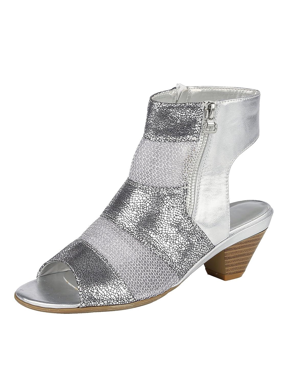 Liva Loop Sandale mit luftdurchlässigen Silberfarben Mesheinsätzen Silberfarben luftdurchlässigen 64e388