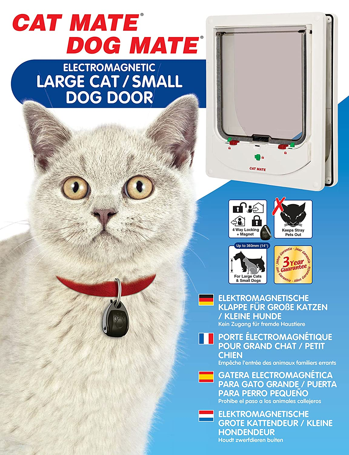 Amazon Cat Mate Electromagnetic Large Cat Or Small Dog Door