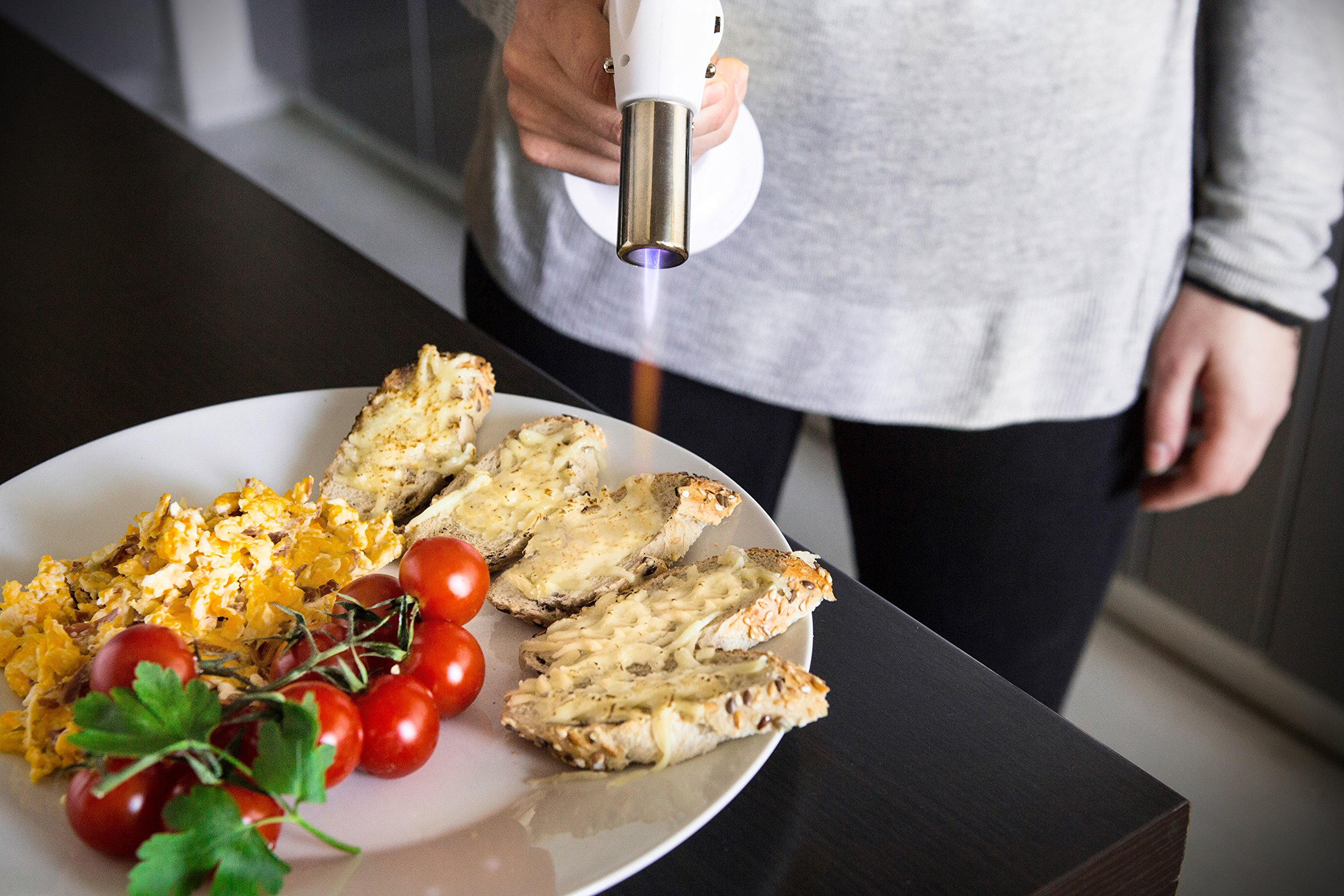 JB Chef Culinary Micro Butane Torch | Mini Torch Lighter Cooking Kitchen Blow Torch With Safety Lock & Adjustable Flame | Small Cigar Torch Lighter For Crème Brûlée, Soldering, Welding Torch & More by JB Chef (Image #4)
