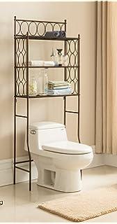Amazon.com: 3 Shelves Space-Saving Bathroom Shelving Unit, Over the ...