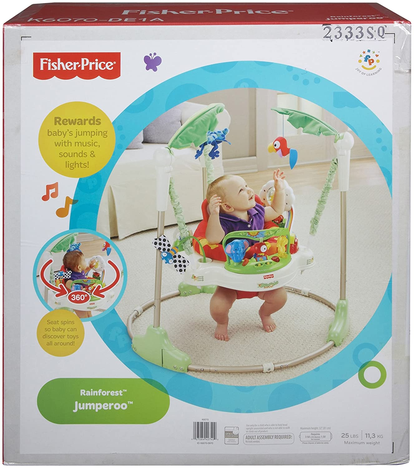 b2c0eedff Amazon.com   Fisher-Price Rainforest Jumperoo   Infant Bouncers And ...
