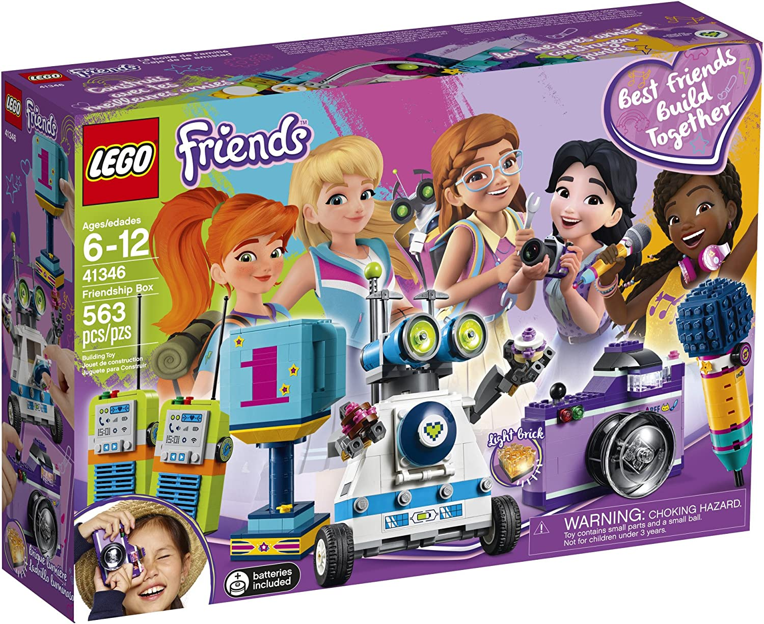 Builds 5 Items 563 pieces New LEGO Friends 41346 Heartlake Friendship Box Set