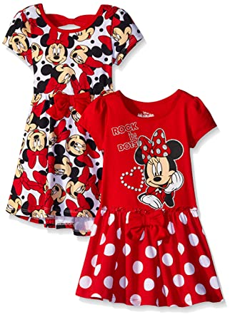 39c95fe41 Amazon.com  Disney Little Girls  2 Pack Minnie Rocks The Dots ...