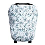 Baby Car Seat Cover Canopy and Nursing Cover Multi-Use Stretchy 5 in 1 Gift Indigo  by Copper Pearl