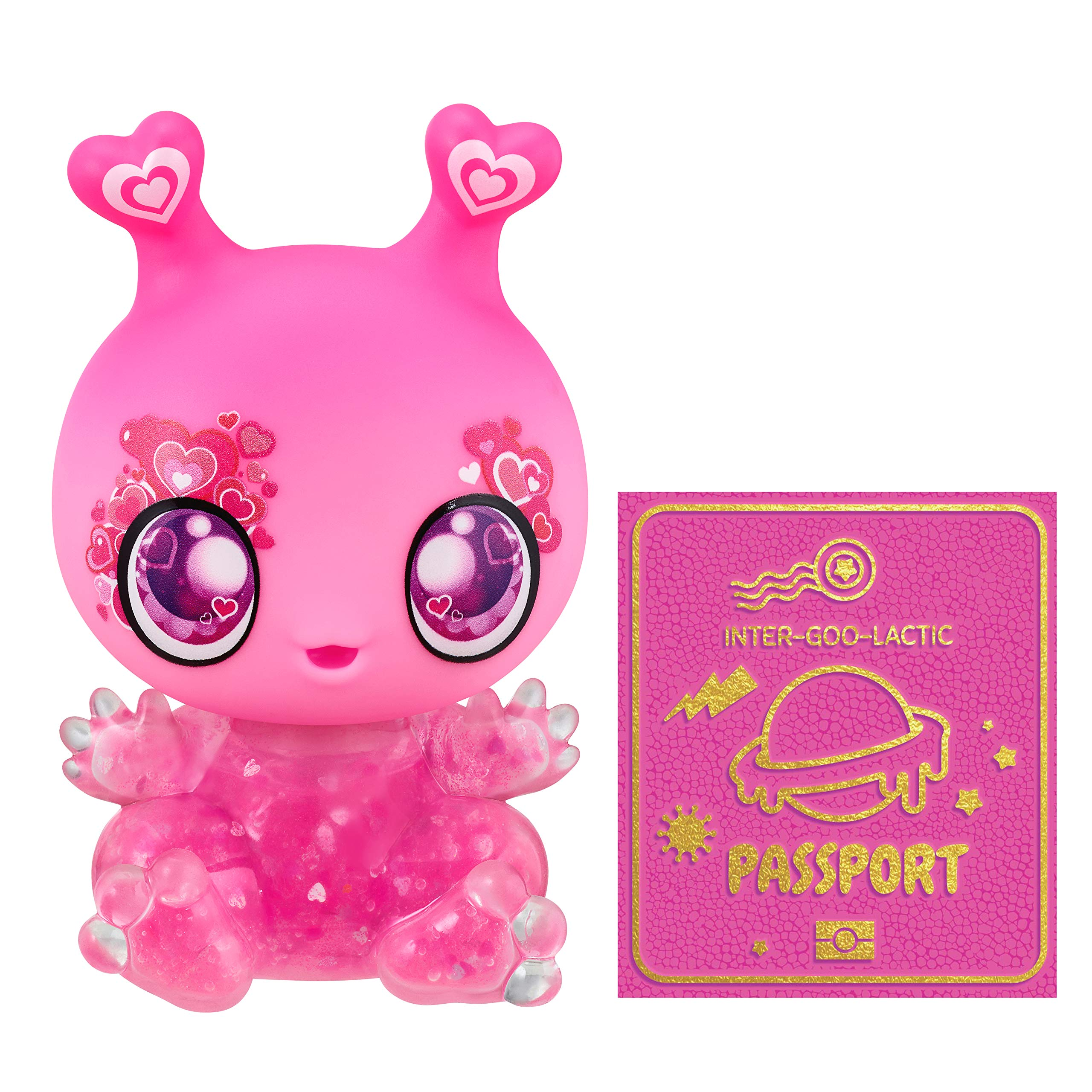 Goo Goo Galaxy - Pink Blink Goo Drop Doll, 5.5 inch Small Doll with Squishy Goo Filled Light-up Body