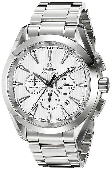 Omega de hombre 231.10.44.50.04.001 Aqua Terra esfera blanca reloj