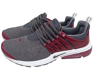 Nike Air Presto Gris Burdeos Mens tamaño 10 Zapatillas Deportivas Zapatillas Shox Zapatos: Amazon.es: Deportes y aire libre