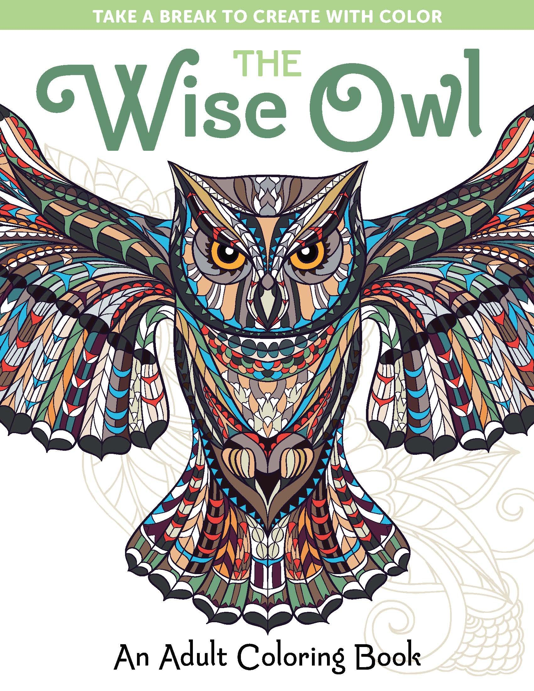 Amazon: The Wise Owl: An Adult Coloring Book (take A Break To Create  With Color) (9781940611495): Spring House Press: Books