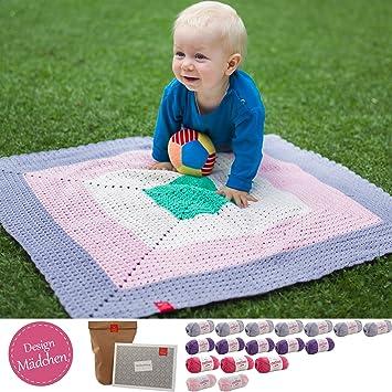 Häkelset Baby * DIY Set Baby Decke Kleiner Liebling Mädchen ...