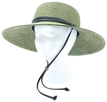 e60473eaad5df Sloggers Women s Wide Brim Braided Sun Hat with Wind Lanyard