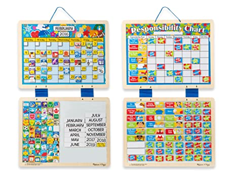 Amazon Com Melissa Doug Kids Magnetic Calendar And